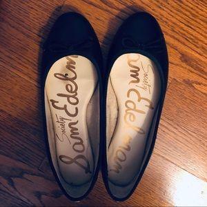 Sam Edelman Shoes - Sam Edelman Black Leather Ballet Flat with Bow